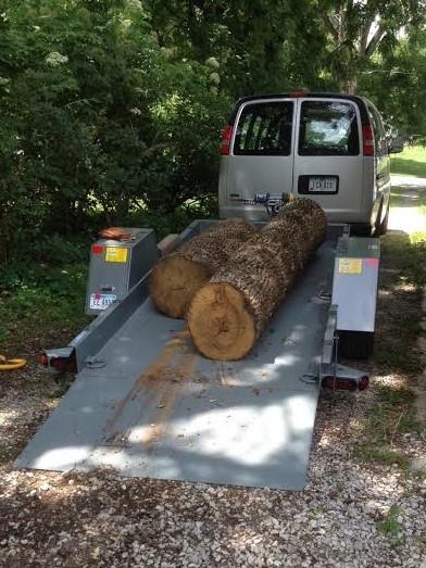 loaded logs