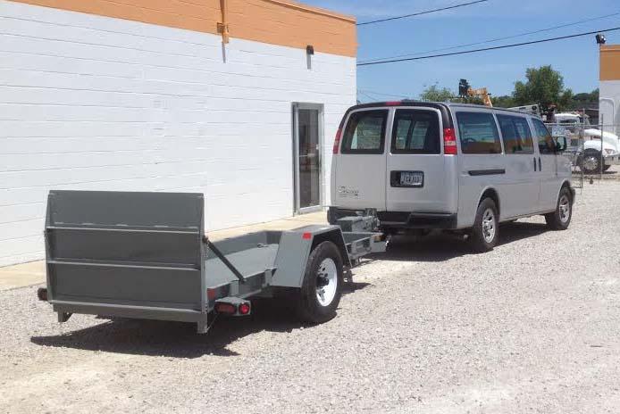 trailer and van